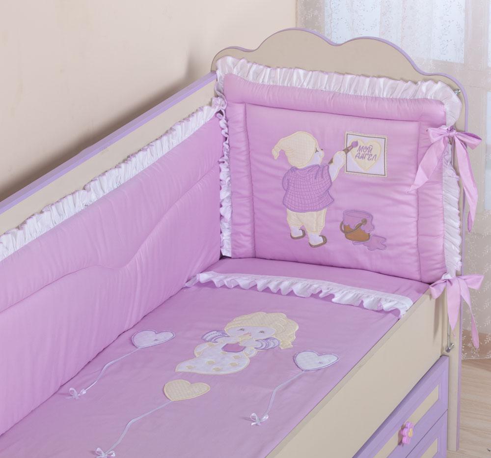 Бампер для кроватки своими руками фото